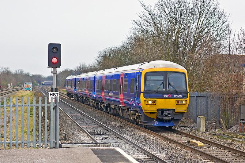 10th Mar 12:  166206 on the Down Main through Maidenhead on an ECS move
