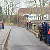 1st Mar 12:  The gallery waiting for the King at Duffield Road in the Sonning Cutting