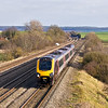 20th Mar 12:  The Cross Country Voyager rushing along the Main at Cholsey  is 1E56 the 15.40 from Reading to Newcastle