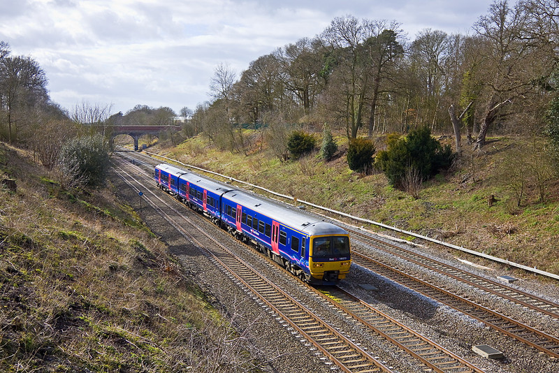 8th Mar 11:  On the Up Main through Ruscombe is 166213 working 1K61 the 13.38 from Bedwyn to Paddington