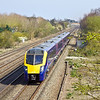 29th Mar 12:  On the 2nd of the days crew training trips from Paddington to Oxford 180106 races west past the site of Waltham Siding near Maidenhead
