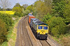 16th May 12:  4O27 from Garston with 66589 on the point bowls south through Silchester