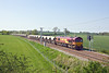 22nd May 12:   66092 heads to Northampton from Mountsorrel with the Lafarge self dischange train.  6B30 started out at 12.53