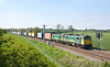 22nd May 12:  86013 & 012 hurry south through Long Buckby on 4L92 from Ditton to Felixtowe