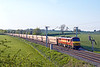22nd May 12:  90028 is in charge of the Garston to Daggenham empty car carriers.  6L48 is captured at Long Buckby