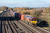 14th Nov 12:  4O23 from Hams Hall to Southampton in the hands of 66054 at Lower Basildon