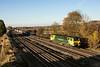 14th Nov 12:  Rounding the curve through Lower Basildon is 70020 on 4O27 from Garston to Southampton