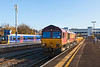 11th Nov 12:  66075 westbound through Twyford with a long rake of loaded JNAs