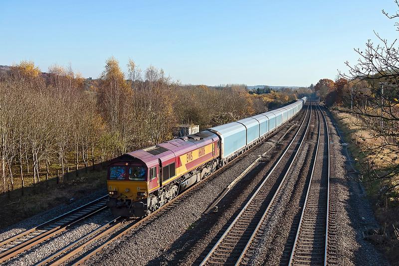 14th Nov 12:  66006 and the Blue Worm AKA 6M52 Southampton Easten Docks to Castle Bromwich