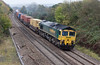24th Oct 12:  66505 on the point of 4V50 from Southampton to Wentloog is pictured at Ram Hill