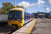 4th Oct 12:  A 3 car Turbo 165116 sits silent in the Bay at Twyford.  It will next form 2H28 the 11.43 to Henley on Thames