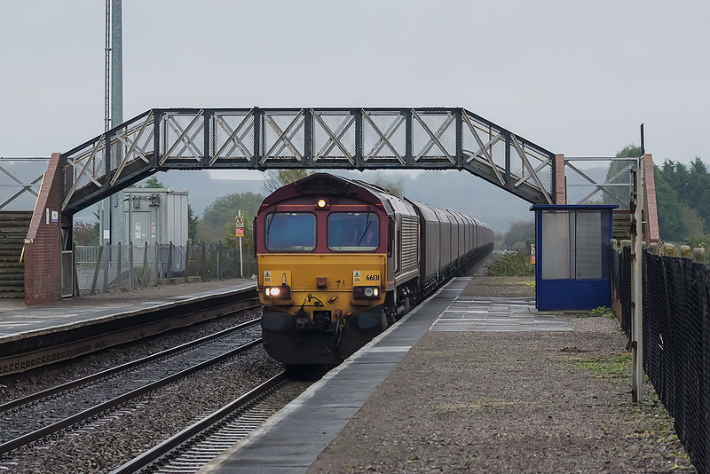 24th Oct 12:  Captured at Pilning is 66131 on the point of 6V68 from Avonmouth to Aberthaw