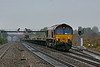 24th Oct 12:  66068 climbs away from the Severn Tunnel through Pilning with an empty car transporter working