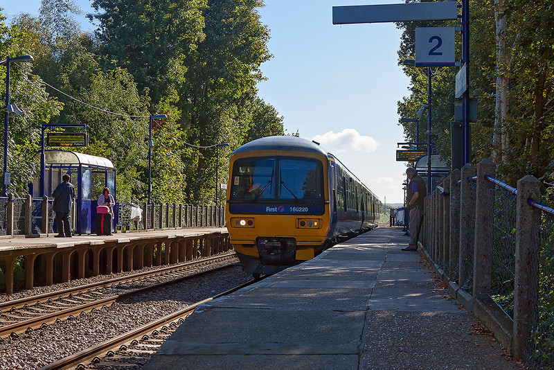 4th Oct 12:  166220 runs non stop up the hill through Sandhurst with the 10.03 Gatwick to Reading service