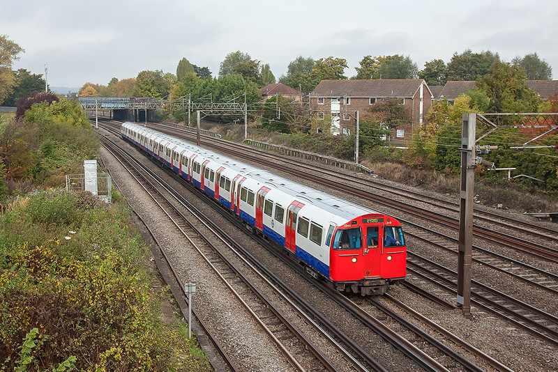 20th Oct 12:  A southbound Bakerloo Line unit 3248 nearing South Kenton