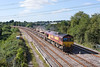 5th Sep 12:  6M26 is the Eastleigh to Stud Farm ballast empties.  66148 is captured rounding the East Chord at Didcot