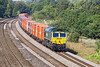 5th Sep 12:  66569 tops 4L32  from Bristol Freightliner Terminal to Tilbury.  Lower Basildon