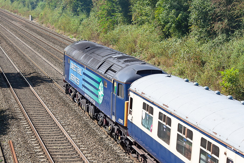 8th Sep 12:  Tail end charlie on the Africa Express was 48805.  Pictured at Shottesbrooke