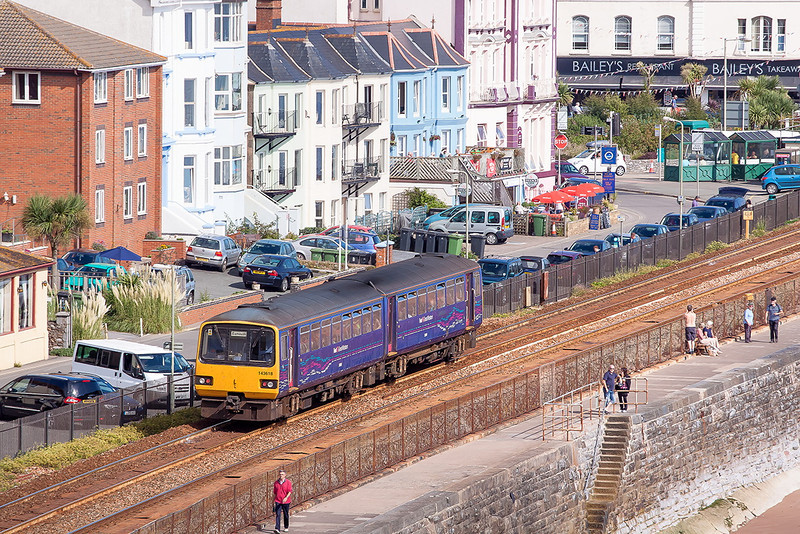 15th Sep 12:  Running into Dawlish is 143618 working the 11.13 from Paignton to Exmouth
