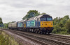 4th Sep 12:  The Cruise Saver Express ECS to Crewe headed by 47841 & 47802 was a bit of a surprise to be composed of only two coaches when pictured  leaving Mortimer