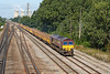 5th Sep 12:  66145 on the point of 6O26 the Hinksey to Eastleigh Departmntal leaving Didcot