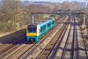 27th Mar 12:  175101 hurries away from Newport with late running 1V51 the 04.25 from Holyhead to Cardiff