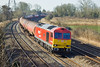 27th Mar 12:  60007 rounds the curve through Duffryn with Murco tanks bound for Westerleigh