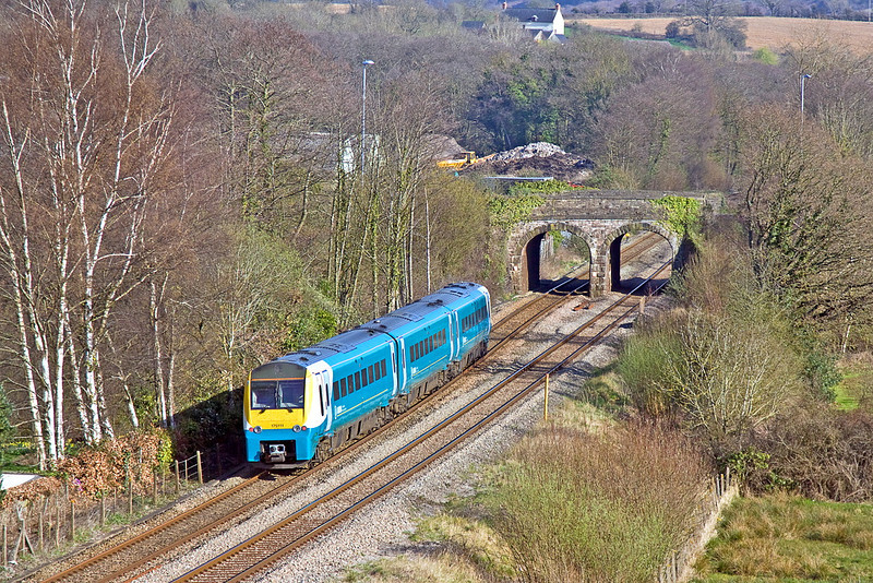 27th Mar 12:  Dashing south through Ponthir is 175111 working 1V85 the 13.30 from Manchester Piccadilly to Tenby