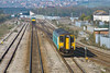 27th Mar 12:  150235 approached Severn Tunnel Junction  with a Cardiff to Cheltenham stopper.  67003 can be seen in the distance