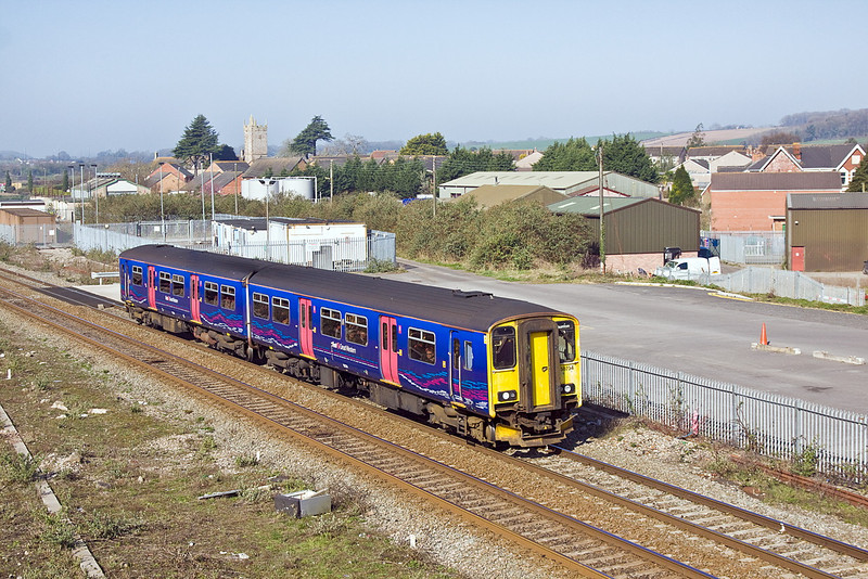 27th Mar 12:  Arriving at Severn Tunnel Junction is 150234 working the 10.00 Cardiff to Taunton