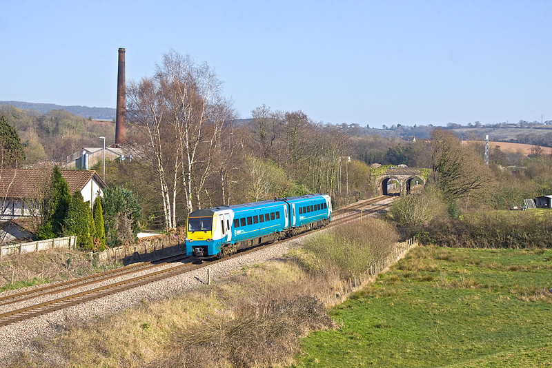 27th Mar 12:  Working from Milford Haven to Manchester Piccadlly is 175010. 1 W29 started the journey at 13.08.  Pictured at Ponthir