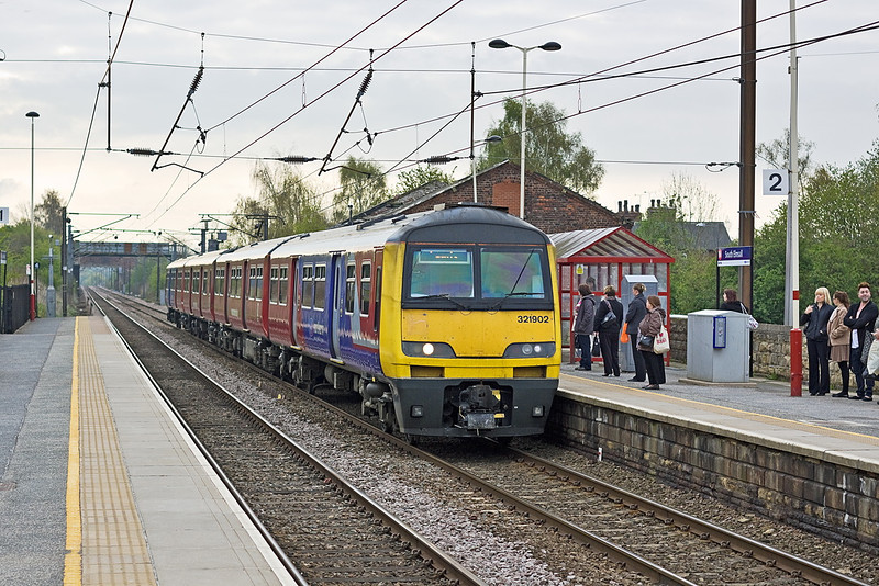24th Apr 12:  321902 calls at South Elmsall while working 2B10 the 09.26 from Doncaster to Leeds