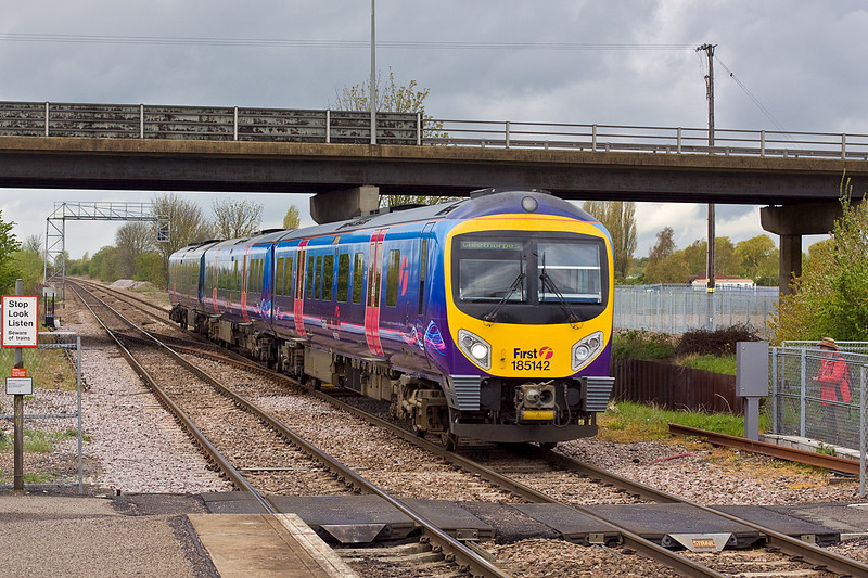 26th Apr 12:  Captured at Crowle is 185142 making for Cleethorpes from Manchester