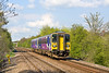 24th Apr 12:  In lovely afternoon light 153332 rattled down the hill through Thurnscoe forming 2Y89 the 15.01 from York to Sheffield