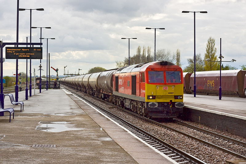 26th Apr 12:  At the helm of 6E82 the 12.16 from Rectory Junction to Lindsey is 60007.  Captured here at Barnetby