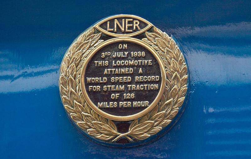 21st Apr 12:  Mallard's speed record plate