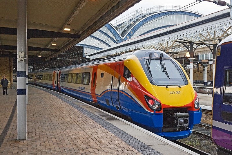 21st Apr 12:  Sitting doing nothing at York is East Midlands Trains Meridian 222007