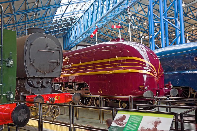 21st Apr 12:  46229 Duchess of Hamilton fully streamlined in York Museum, stunning