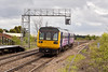 26th Apr 12:  In a little weak sunlight 142026 arrives at Crowle with the 10.26 from Cleethorpes to Lincoln