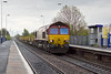 26th Apr 12:  6X01 with 66167 on the point conveys rails from Scunthorpe to Eastleigh.  Pictured here passing through Thorne South