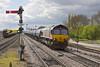 26th Apr 12:  66060 heads the Preston Docks to Lindsey (6E32) empty VTG tanks through Barnetby