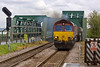 26th Apr 12:  Exiting the lifting bridge at Althorpe is 66050 working the 10.49 from Immingham to Drax (6H60)