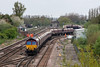 9th May 13:  66161 brings a rake of empties from the sidings at Milford Junction and heads South to Worksop