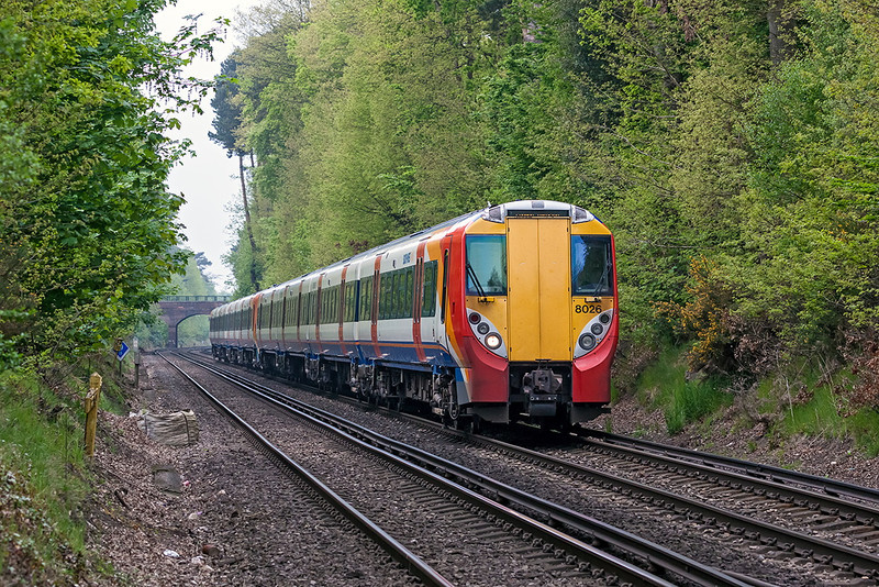 20th May 13:  Slowing for the Ascot stop is 458026 the leading unit on 2C42 the 13.42 from Reading to Waterloo