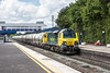 16th May 13:  70003 is rostered to head 6M91 the PCA Cement empties from Theale to Earles.  Pictured passing through Twyford