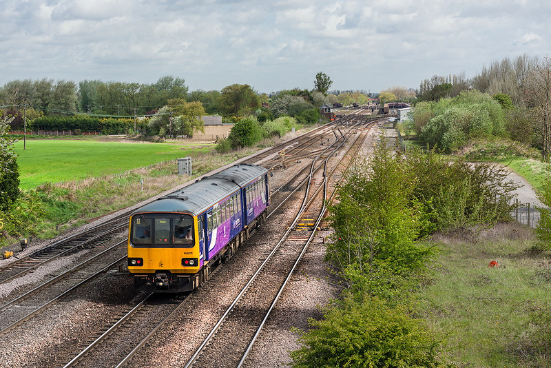 9th May 13:  2Y80 is the 09.31 Sheffield to York service, captured here in the hands of 144011 running through Milford Junction