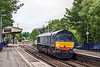 29th May Pottering through Bramley is 66303 heading for Eastleigh from  Crewe Gresty Bridge