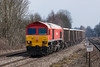 3rd Apr 13:  Diverted to run via Swindon 59202 hurries 7C77 from Acton to Merehead through Tilehurst