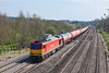 25th Apr 13:  Running on time through Lower Basildon is 60017 heading 6B33 the empty Murco Tanks from Theale to Robeston