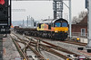 11th Apr 13:  66846 takes the line through Platform 15 while working 6C50 Departmental from Hinksey to Southall Yard